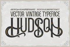 Hudson OTF vintage label font. Uppercase only! Product Image 1