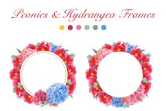 Watercolor Peonies and Hydrangea Frames Product Image 2