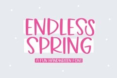 Web Font Endless Spring - A Fun Handwritten Font Product Image 1