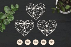 Mandala heart paper cut template | SVG layered hearts bundle Product Image 4