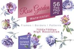 Rose Garden JPG watercolor set Product Image 1