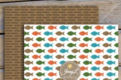 Fishing Digital Papers and clipart SET Product Image 5