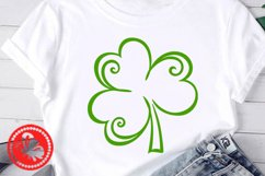 Shamrock svg Lucky shirt Png St. Patricks day decor Irish Product Image 2