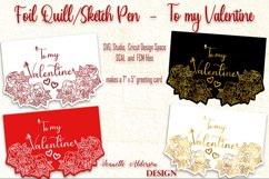 single line foil To my Valentine cutting foil greeting card Product Image 1