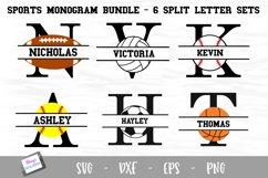 Sports Monogram Bundle - 6 Sets of Sports Split Letters A-Z Product Image 1