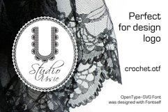 Crochet - svg craft lace font Product Image 2