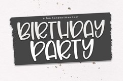 Birthday Party - A Cute & Quirky Handwritten Font Product Image 1