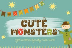 Cute Monsters – A Spookily Cute Halloween Font Product Image 1