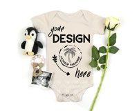 Bella Canvas 100B Baby Bodysuit Mockup Bundle - Baby Mock Up Product Image 6