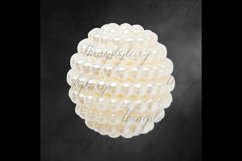 100 Pearl Pomander Digital Clip Art Jewelry Pearl Ball Image Product Image 2