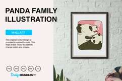 Panda Family Vector Illustration Product Image 5