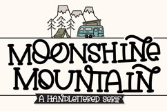 Moonshine Mountain - A Silly Soft Caps Font Product Image 1