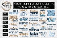 Christmas Bundle Volume 5 - 24 Festive Christmas SVG Designs Product Image 1