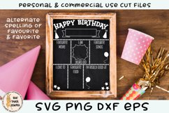 Birthday Chalk Board Sign SVG Product Image 2