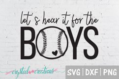 Let's Hear it for the Boys Baseball SVG, DXF, PNG Product Image 2