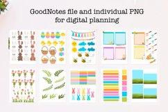 Digital easter sticker bundle for digital planner Product Image 2