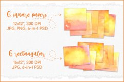 Orange Backgrounds , Sublimation Watercolor Background PNG Product Image 2