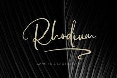 Rhodium - Signature Font Product Image 1