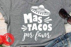 Cinco de mayo shirt Mas tacos por favor Mexican Sombrero art Product Image 1