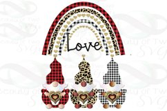 Gnomes Valentine Sublimation png Valentine Love Rainbow png Product Image 2