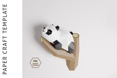 PDF Template of Panda on Tree/ Papercraft Template/ 3D Paper Product Image 4