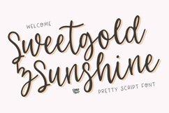 SWEETGOLD & SUNSHINE Romantic Script Product Image 1