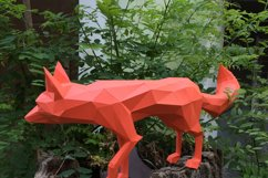 DIY Fox Papercraft, Red Fox, Fox Tail, Fox and Dogs, Fox Sculpture, Animal Trophy, Paper Animals, Home Decor, 3D origami, wild nature, foxy Product Image 4