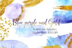 Watercolor Brush Strokes Splash ,Blue Watercolor Branding Product Image 1