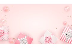 Valentine's Day Background Cards Design Product Image 2