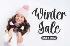 Hello Snowflake - a script winter font Product Image 6