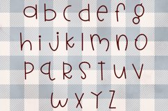 Candy Canes - A Font With Christmas Doodles! Product Image 2