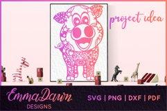 IGGY THE PIGGY SVG MANDALA / ZENTANGLE DESIGN Product Image 7