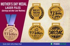 Mother's Day Awards  Medal Laser Files, Svg Dxf Eps Product Image 1