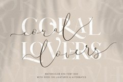 Coral Lovers SVG Watercolor Font Duo Product Image 1