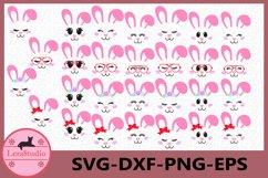 Bunny Face Clipart, Bunny Shirt, Bunny Cutie SVG, Girl Bunny Product Image 1