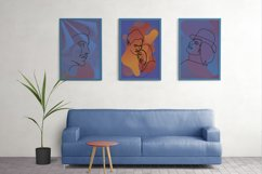 Abstract portraits wall art, Abstract modern painting print Product Image 4