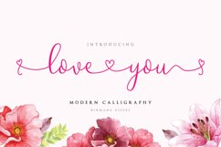 Loveyou - Romantic Font Product Image 1