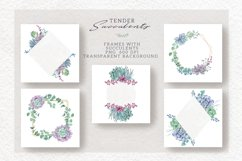 Watercolor Set Tender Succulents Product Image 6