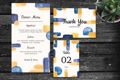 Elegant Colorful Abstract Shape Wedding Invitation Set Product Image 3