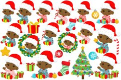 BABY'S FIRST CHRISTMAS CLIPART - AFRICAN AMERICAN BABY Product Image 5