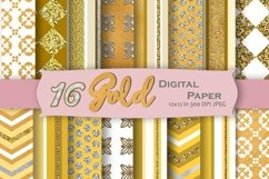 Gold Digital Paper Pack Product Image 1