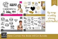 Here Comes the Bride MEGA Bundle - Wedding SVG and Cut Files Product Image 1
