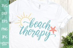 Beach Therapy - A Beach SVG Cut File for Crafters Product Image 1