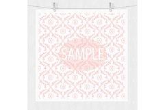 Pink Damask Digital Paper Product Image 3