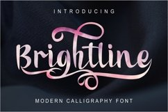 Brightline Modern Calligraphy Product Image 1