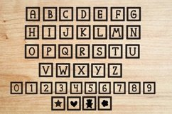 Funny blocks font for building blocks party Product Image 4