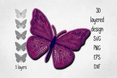 3D layered Butterfly Cut file Product Image 2