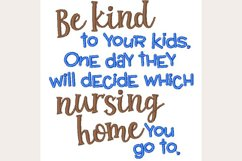 Be Kind To Your Kids - Machine Embroidery Design Product Image 1