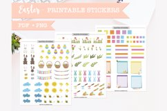 Printable easter sticker sheets for planner PDF and PNG Product Image 1