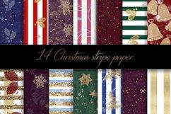 Christmas stripe digital paper pattern Product Image 1